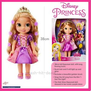 Image Is Loading Disney Princess Hair Glow Rapunzel 38cm Doll Singing