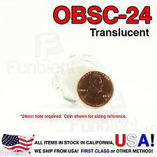 Sanwa Original OBSC-24 White Translucent Push Button JAMMA guitar killswitch