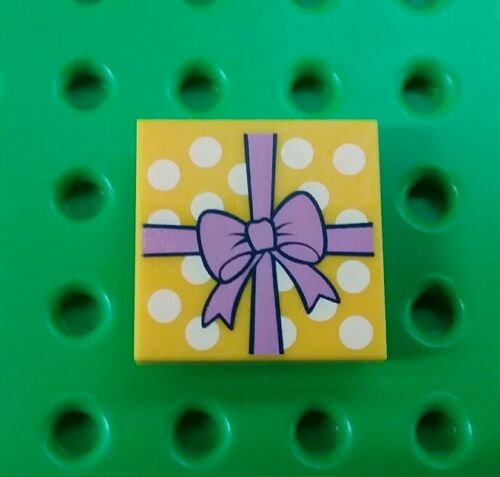*NEW* Lego 2x2 Stud Gift Package w Bow Printed Flat Tile Plate Brick x 1 piece