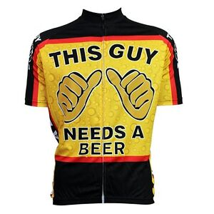 fb1d493f0 This Guy Needs A Beer Cycling Clothing Bike Jersey Top Breathable ...