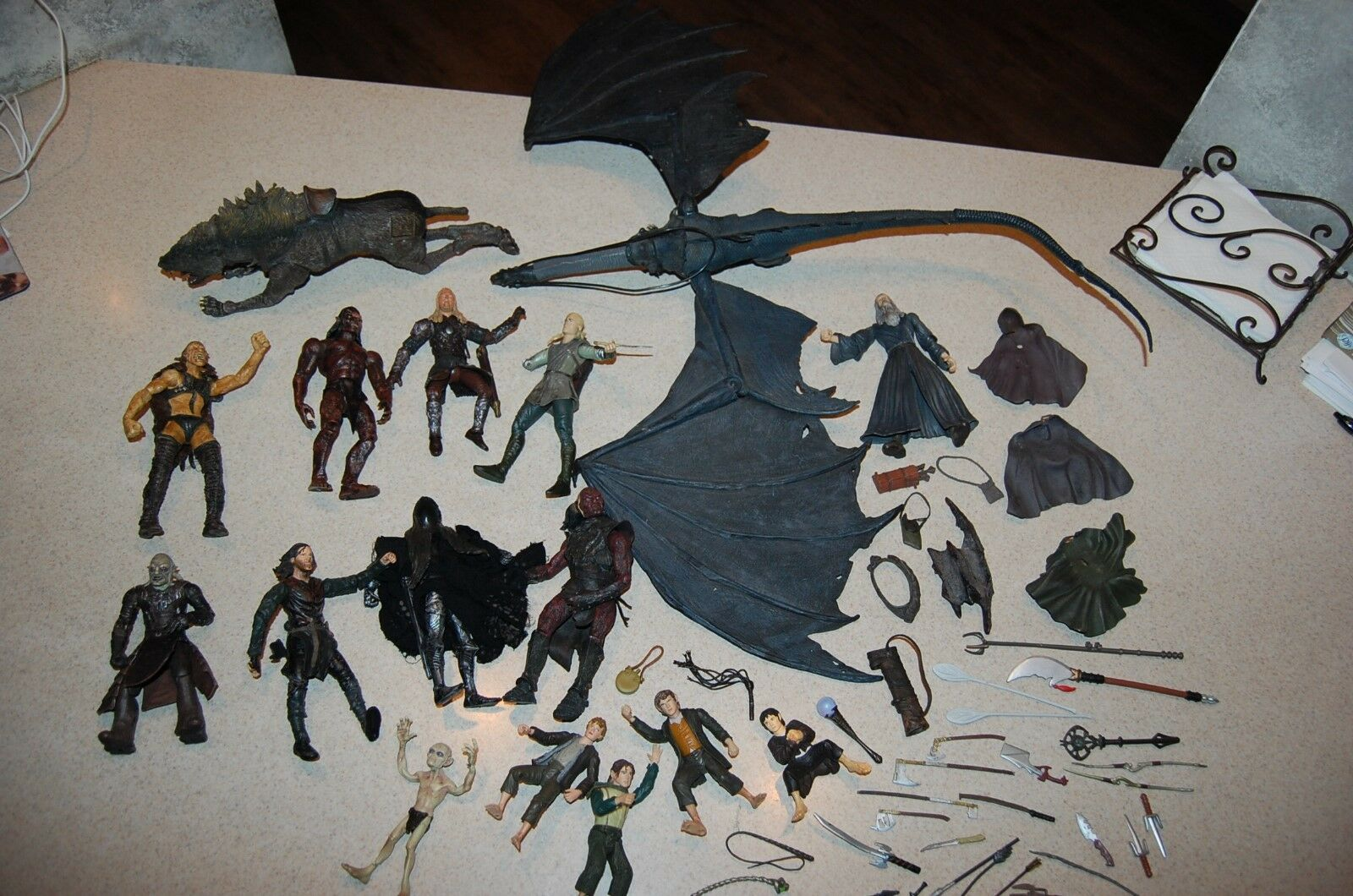 Vintage Lot of  Lord of the Rings Marvel Action Figures / Toys with Accessories