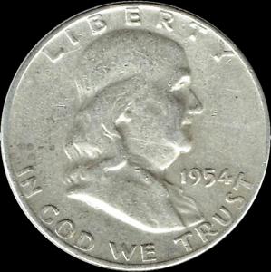 "A 1951 P Franklin Half Dollar 90/% SILVER US Mint /""Average Circulation/"""