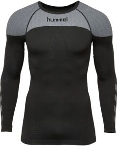Brillant Neuf Hummel First Comfort Jersey Longsleeve Chemise Fonctionell Noir 0043272001