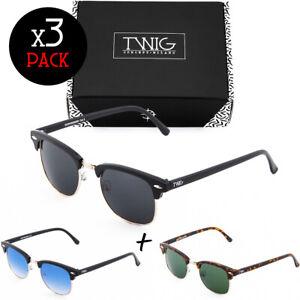 Tres gafas de sol TWIG Pack VEGA hombre/mujer clásicos vintage fashion