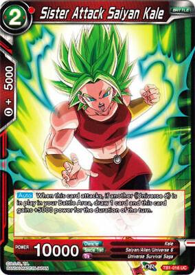 FOUR COPIES OF Dragon Ball Super *Sister Attack Saiyan Kale* TB1-016 UC