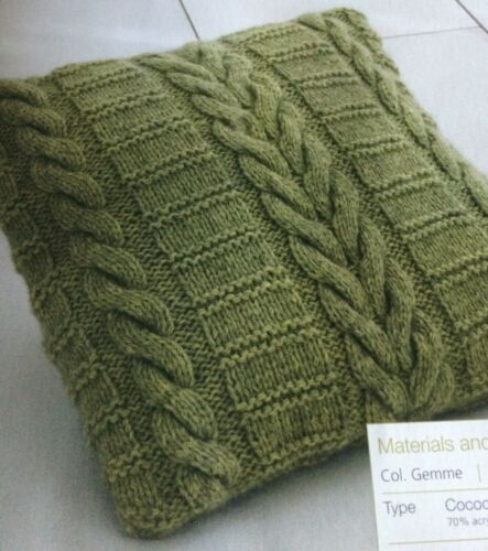 Knitted Cable and Ladder Cushion Knitting Pattern