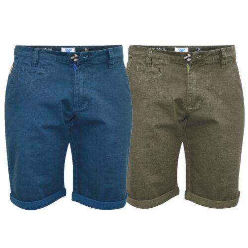 Pantalón corto chino para hombre D555 Duque Big King Size hasta la rodilla Enrollable Casual de Verano Nueva