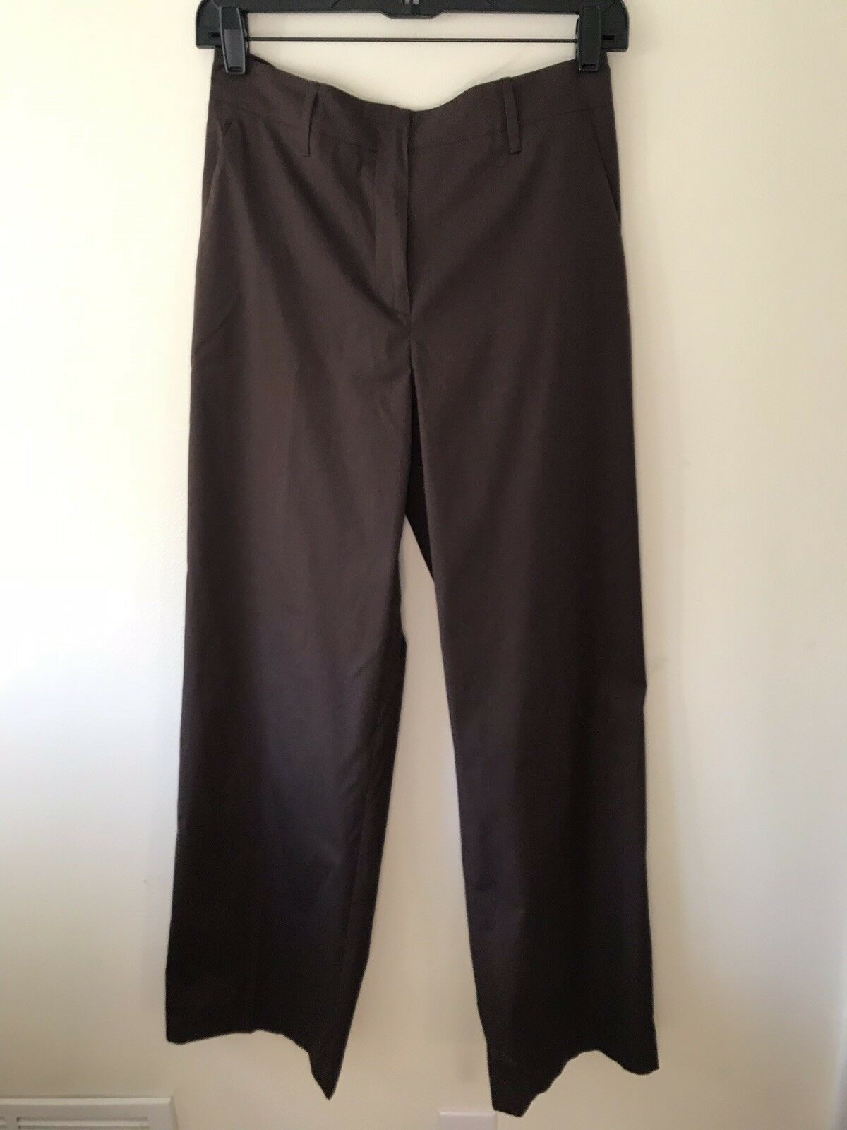 100% Authentic Prada Preowned Brown Pants Sz 40I  6 US