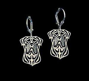 Bull-Mastiff-Dog-Earrings-Fashion-Jewellery-Silver-Plated-Leverback-Hook