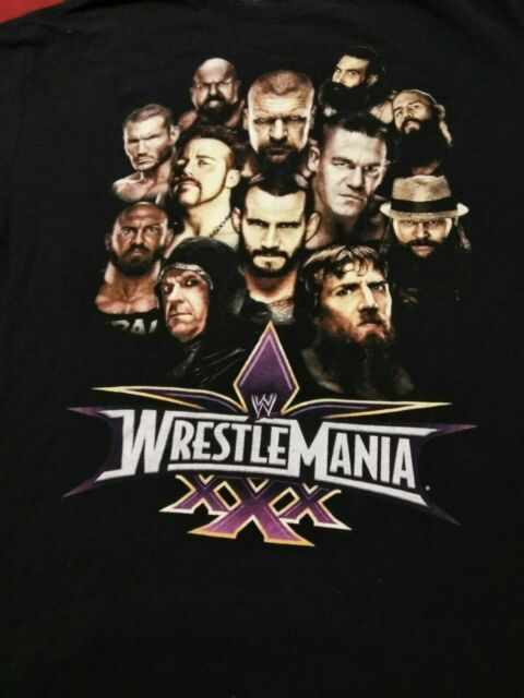 Mens L WWE Wrestlemania XXX 30 CENA CM PUNK UNDERTAKER HHH ...