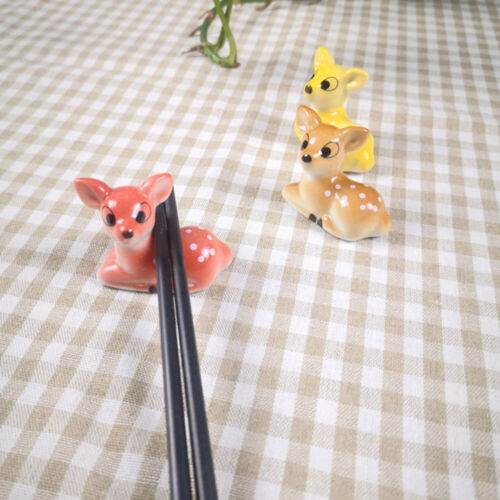Ceramic Chopstick Rest Sika Deer Cartoon Spoon Fork Rack Stand Pen Holder Home