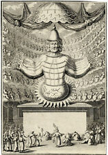 Religion Idole Amida Japon Japan Gravure Originale Bernard Picart XVIIIe