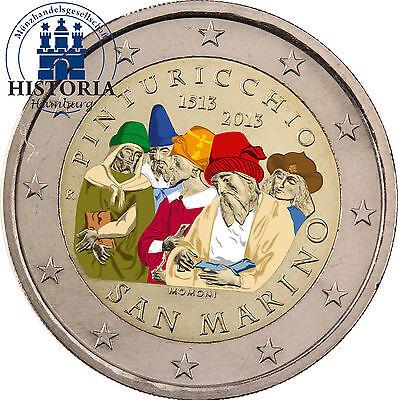 San Marino 2 Euro Gedenkmünze 2013 bfr. Pinturicchio in Farbe