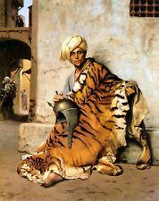 Piel de comerciante de El Cairo por jean-leon Gerome 100% Algodón Lona Impresión De Foto Nueva