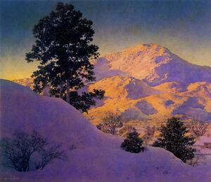 Maxfield Parrish  Winter Sunrise 22x30 Hand Numbered Ltd. Edition Art Deco Print