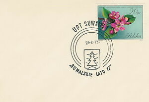 Poland postmark SUWALKI - summer 77 - Bystra Slaska, Polska - Poland postmark SUWALKI - summer 77 - Bystra Slaska, Polska