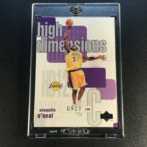 SHAQUILLE-O-039-NEAL-SHAQ-1997-UPPER-DECK-HD12-HIGH-DIMENSIONS-INSERT-2000-LAKERS