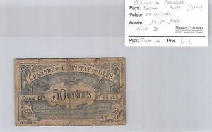 -kammer Handels- Von Gers 50 Cent 18.11.1914 Serie D Pirot 1