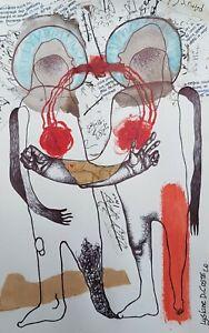 Lysiane-D-COSTE-dessin-sur-papier-16-25cm-drawing-on-paper-signe-date-2020