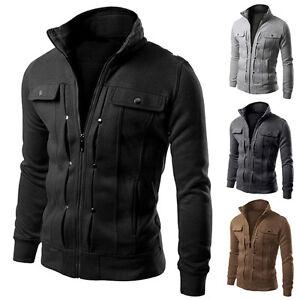 STOCK-Chaqueta-primavera-invierno-hombre-abrigo-elevado-Cuello-Informal