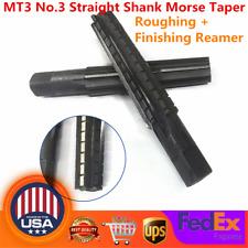 Mt3 No3 Straight Shank Morse Taper Rough Finish Fine Reamer For Morse Taper Us