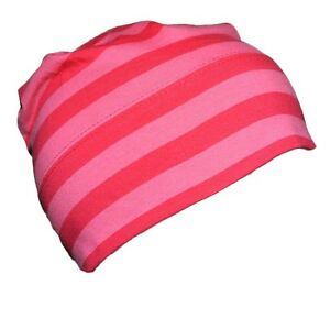 MAXIMO-Muetze-Beanie-short-Jersey-Blockringel-pink-dunkelpink-51-57-NEU