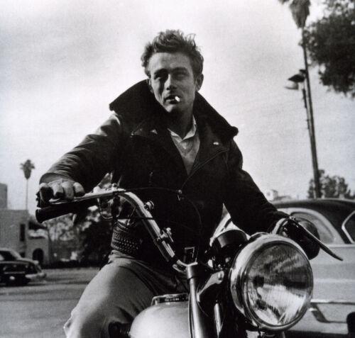 "James Dean motorbike famous actor Vintage Print Poster  Large 24/"" x 24/"" photo"