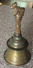 """Old Vintage Figural COW HORSE MULE DONKEY BELL* 8 1/2"""" Antique Brass* no clapper"""
