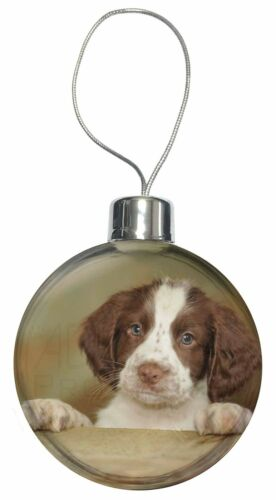 AD-SS76CB Springer Spaniel Puppy Dog Christmas Tree Bauble Decoration Gift