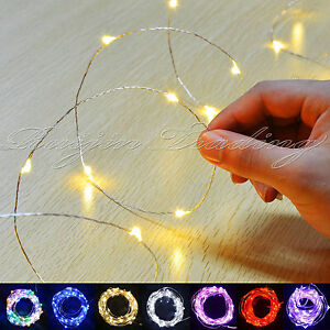 20-30-WARM-LED-MICRO-WIRE-STRING-FAIRY-PARTY-XMAS-WEDDING-CHRISTMAS-METAL-LIGHTS