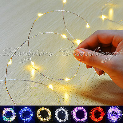 20-40 WARM LED MICRO WIRE STRING FAIRY PARTY XMAS WEDDING CHRISTMAS METAL LIGHTS