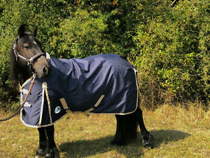 Details About Equidor Columbia Lightweight Turnout Rug Standard Neck No Fill Navy