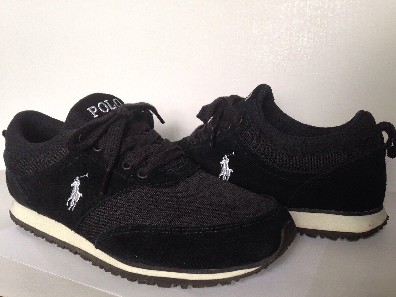 Polo Ralph Lauren Zapatos Arboledas Negro Zapatillas zapatillas Reino Unido 9D, US 10