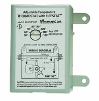 Ventamatic Xxfirestat 10-amp Adjustable Thermostat With Firestat For Power Attic on sale