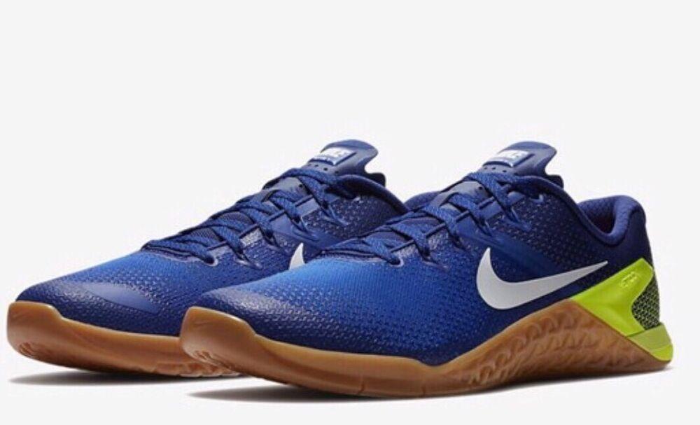 Nike Metcon 4 UK 7.5 EU 42 Racer Bleu/Volt RRP £ 115 Crossfit Gym-