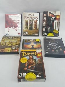 Big-Box-PC-Game-RPG-Lot-Bard-039-s-Tale-Lords-of-magic-civilization-Age-of-Empire