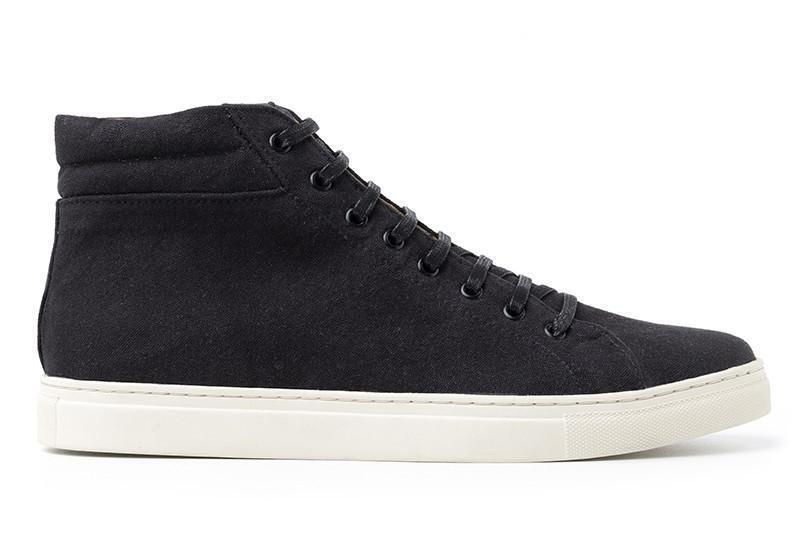 Ahimsa shoes Unisex Vegan High-Top Sneaker Black