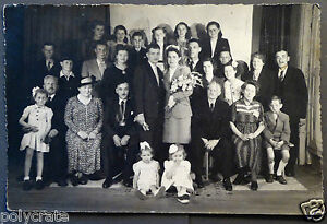 photo ancienne portrait famille mariage an 40 ebay. Black Bedroom Furniture Sets. Home Design Ideas