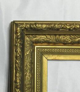 "ANTIQUE FITS 10.25"" X 12.25""  GOLD GILT DEEP ORNATE WOOD VICTORIAN ART FRAME"
