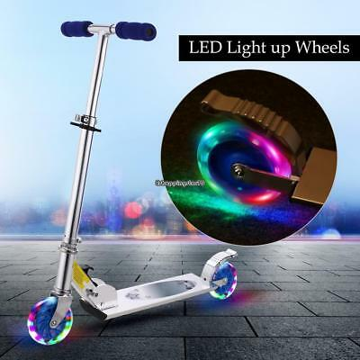 Kids Adjustable Height Kick Scooter with LED Light Up Wheels 2 Wheels For Child