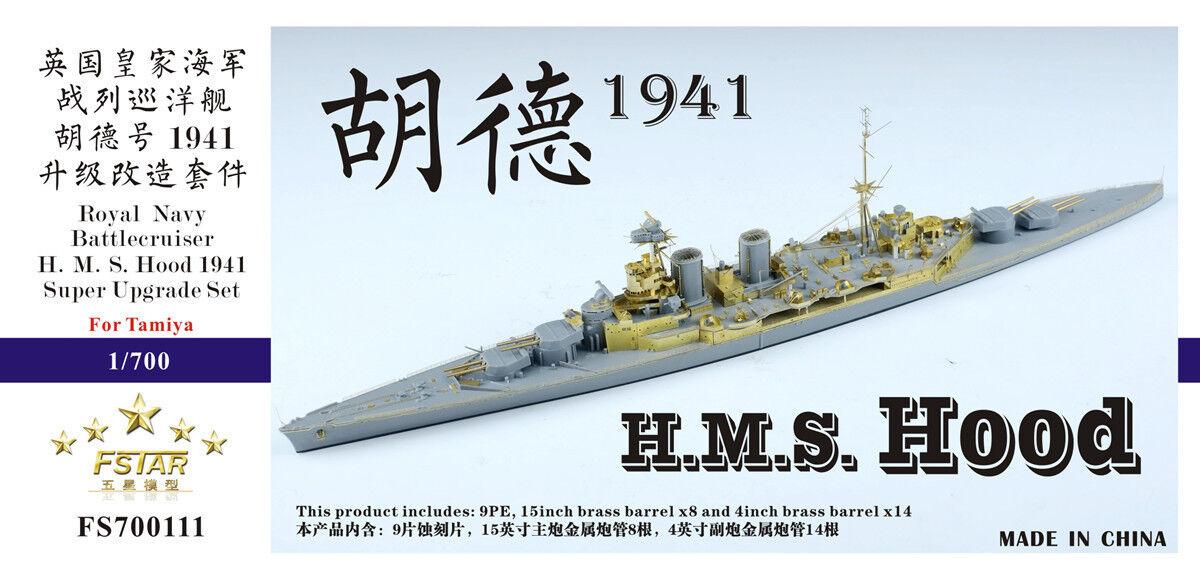 Five Star 700111 1 700 WWII HMS Hood 1941 Super Upgrade Set for Tamiya