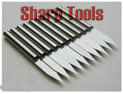Precision 6mm Long Tungsten Steel CNC Router Bits Flat Bottom Engraving Cutter