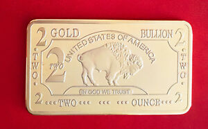 Lingot-2-oz-OR-999-plaque-100-mills-Buffalo-Bison-Gold-Bullion