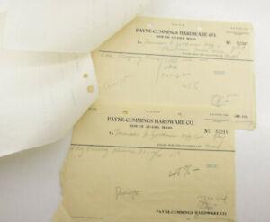 1933-Lamson-Goodnow-Payne-Cummings-Hardware-North-Adams-MA-Orders-Ephemera-P925E