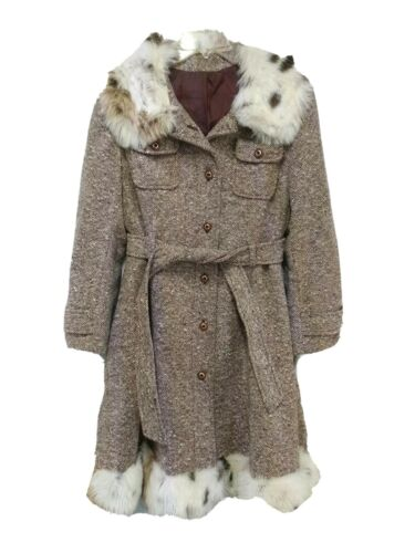 Union Made Trench Coat Vintage ILGWU Fur Collar