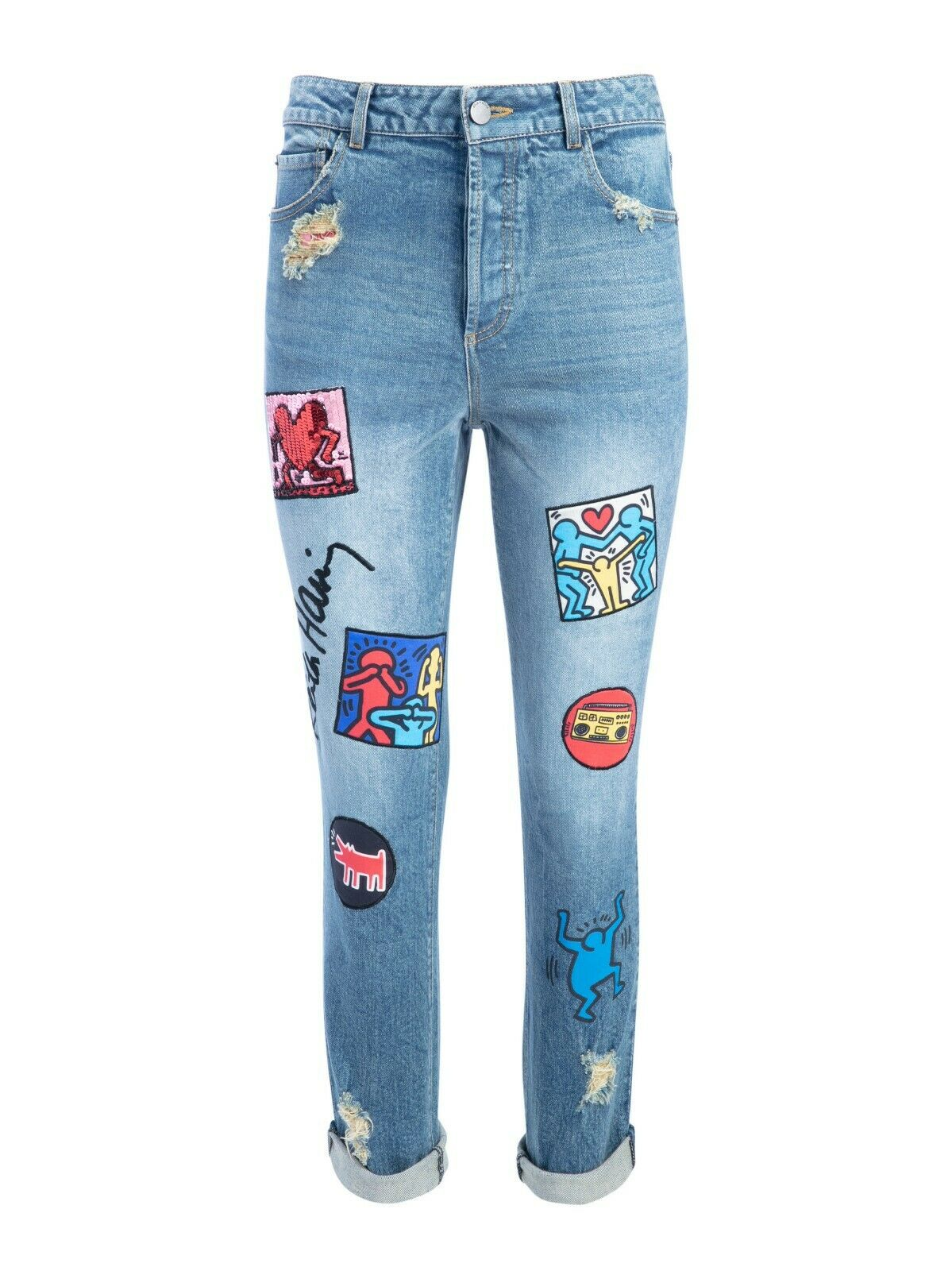 KEITH HARING X AO BYRON JEAN ALICE & OLIVIA Sz 28 SOLD OUT EVERYWHERE RET  595