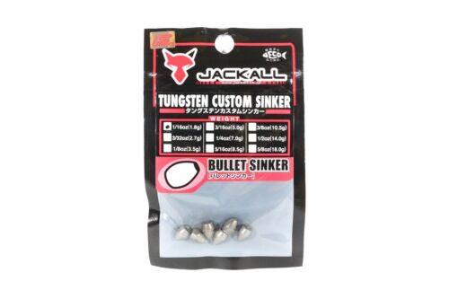 Jackall Tungsten Bullet Sinker Custom Design 1.8 Grams 6 Pcs Per Pack 8520