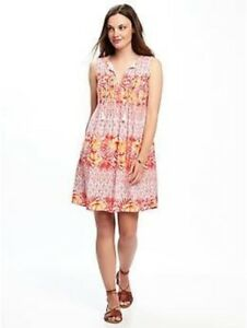 399693b678 Image is loading Old-Navy-Women-039-s-Pink-Print-Pintuck-