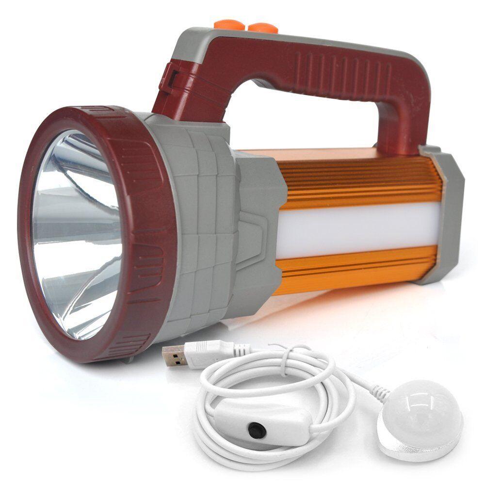 BIGSUN 2018 Super Bright  LED Searchlight USB Rechargeable Outdoor Spotlight  big savings