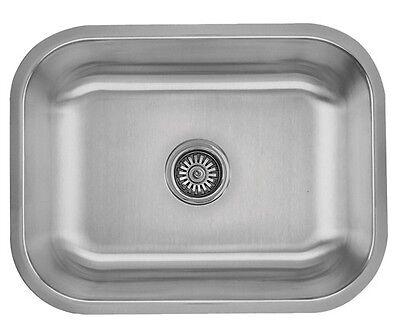 23 x 18 x 9 Stainless Steel Undermount Rectangle Kitchen / Bar Sink 18 Gauge